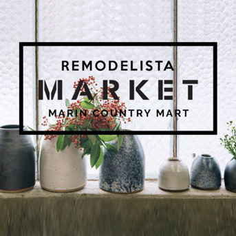 Huddleson table linens at Remodelista market in Marin May 2015