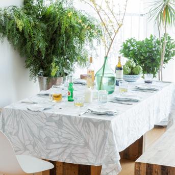 Spring entertaining table desor place setting linen contemporary linen tablecloth