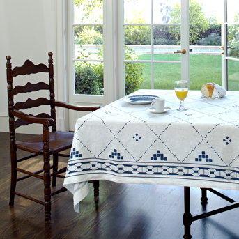 blue and white talecloth modern moroccan linen