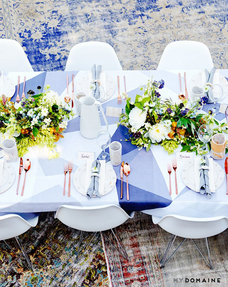 Amazing Hollywood Hills Outdoor Dinner Party Thrown By Fashion Designer Rachel  Pally Using Huddleson Diamond Grey Linen