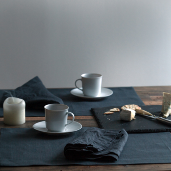 Grey Table Linens - Pure Linen - Huddleson