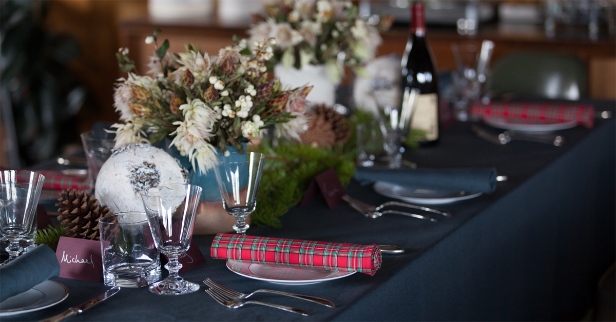 Huddleson linens for 12 days of christmas table cloth