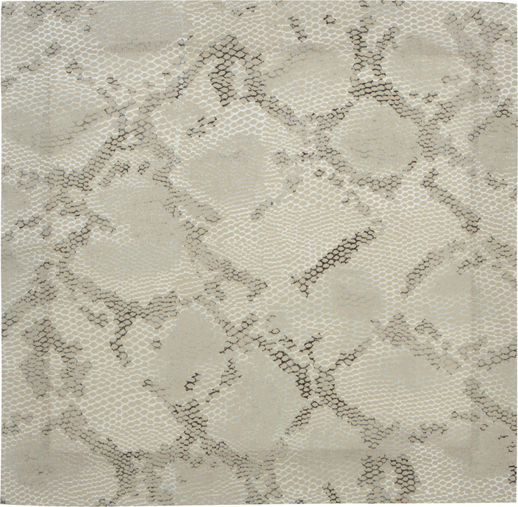 Python snakeskin print linen napkin green table linens