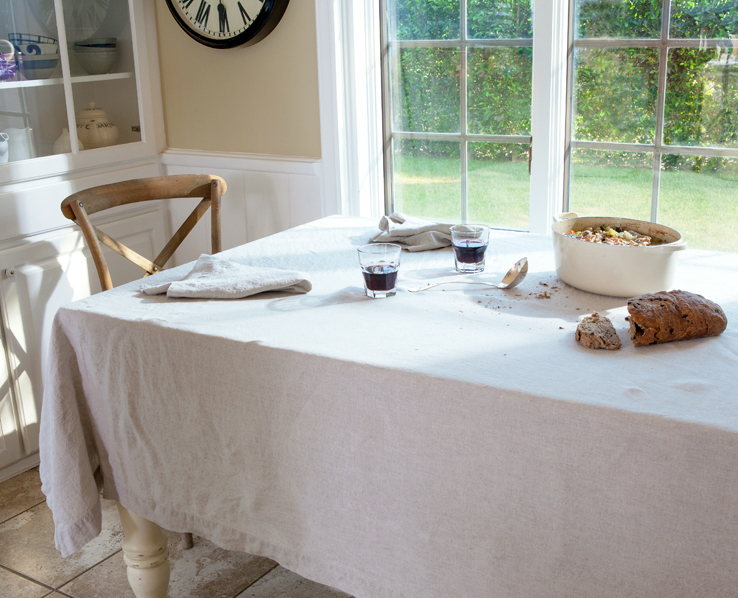Natural linen tablecloth from Huddleson