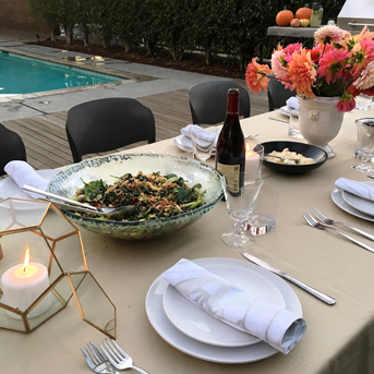 Fall Table Setting Insporatiopn Los Angeles Custom Size Linen Tablecloth