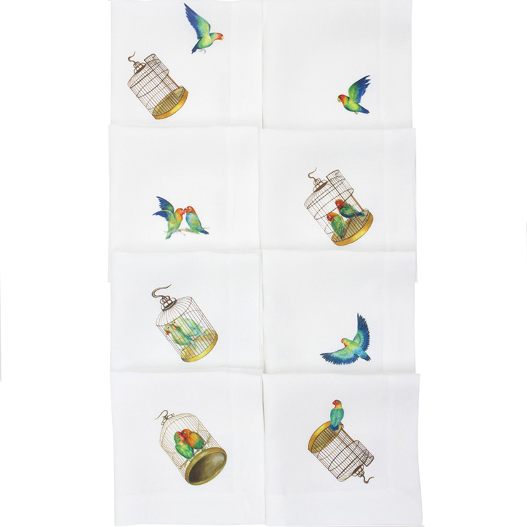 Linen gifts guide: Lovebirds napkins