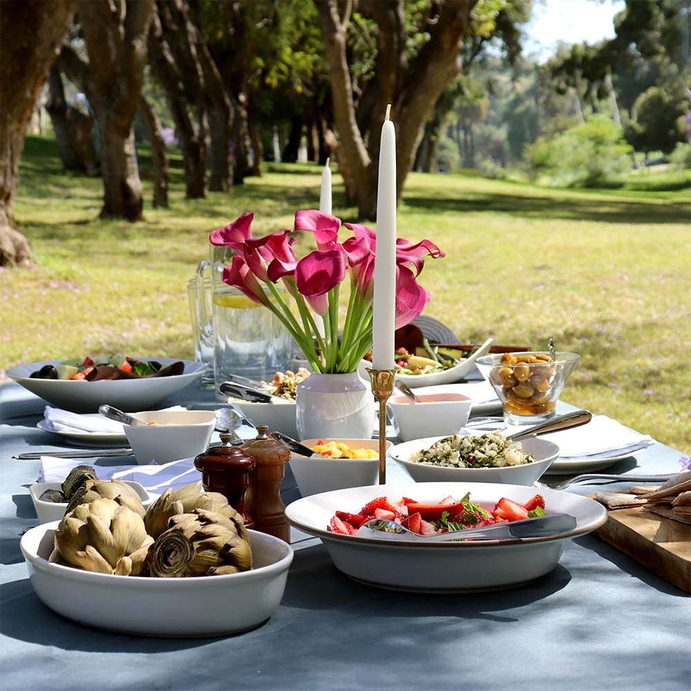 Petrol Dark Green Tablecloth Outdoor Picnic Sophisticated Dining