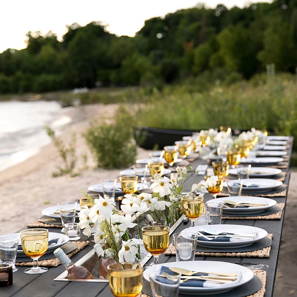 Designer Linen Napkin Rothko Watercolor Print Beach Dinner Party